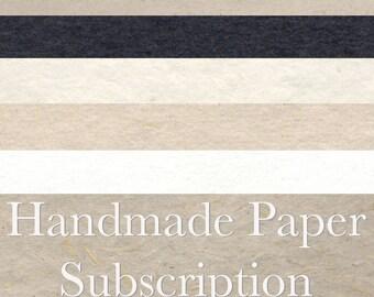 Handmade Paper Subscription - 3 months - Great Gift for an Artist