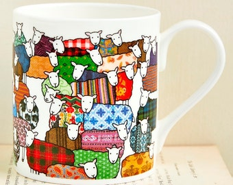 Colourful Sheep Mug