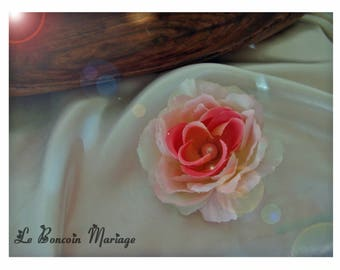 White Pearl and powder pink hair clip