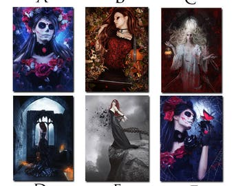 large fridge magnet Gothic art print