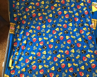 Launching angry bird reversible blanket