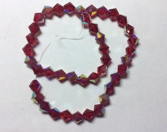 Glass Beads 8mm Red