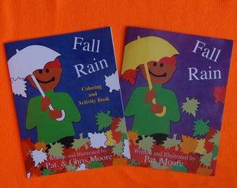 Fall Rain Picture and Activity Book Set / Signed Copy