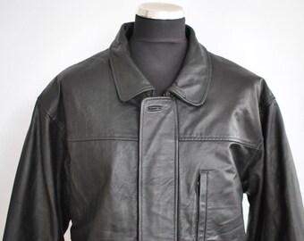 Vintage M.FLUES LEATHER jacket ............(260)