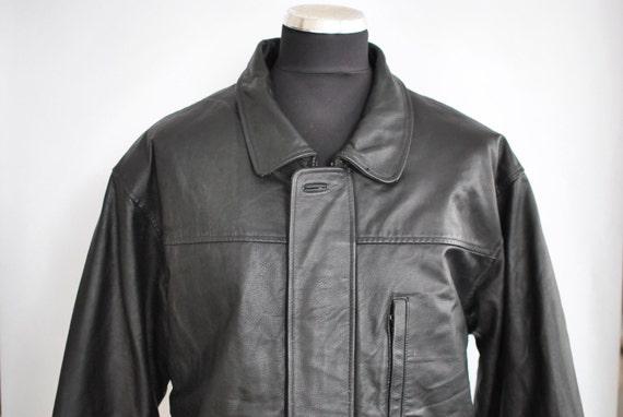 Vintage M.FLUES LEATHER jacket ............(260) MDKrY