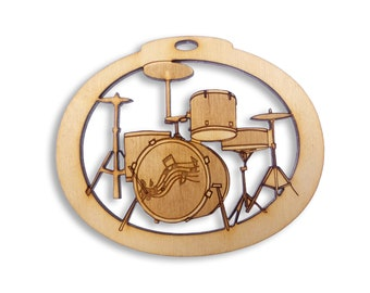 Personalized Drum Set Ornament - Band Gift - Drum Ornaments - Musician Gifts - Musician Ornaments