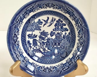 Vintage Churchill Fine Tableware Blue Willow Ware 6\  Bowl & Churchill china | Etsy