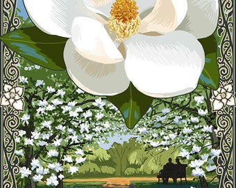 Georgia - Magnolia (Art Prints available in multiple sizes)