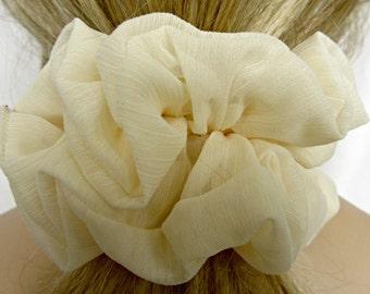 Chiffon Scrunchie in Ivory - #67