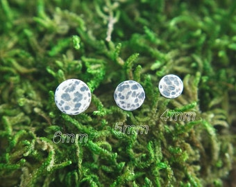 Full moon studs | moon earrings | circle stud earrings | 4mm Silver Studs | Oxidized Studs | Second piercing Studs | Silver post earrings