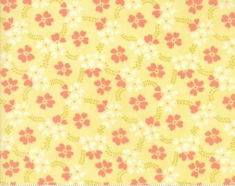 Ella Ollie - Daisy 20302 19 - By Fig Tree of Moda Fabrics 100% Cotton Quilting Fabric