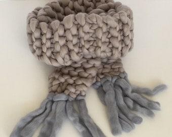 Chunky Knit Merino Scarf