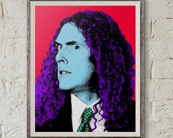 Weird Al, Al Yankovic, Andy Warhol Print, Printable Wall Art, Andy Warhol Poster, Pop Art Print, Dorm Art, Instant Download,Digital Download