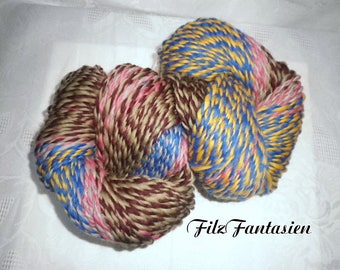 Artyarn hand spun with gradient, effect yarn 163g, hand spun merino wool, wool, colorful gradient yarn, knitting yarn