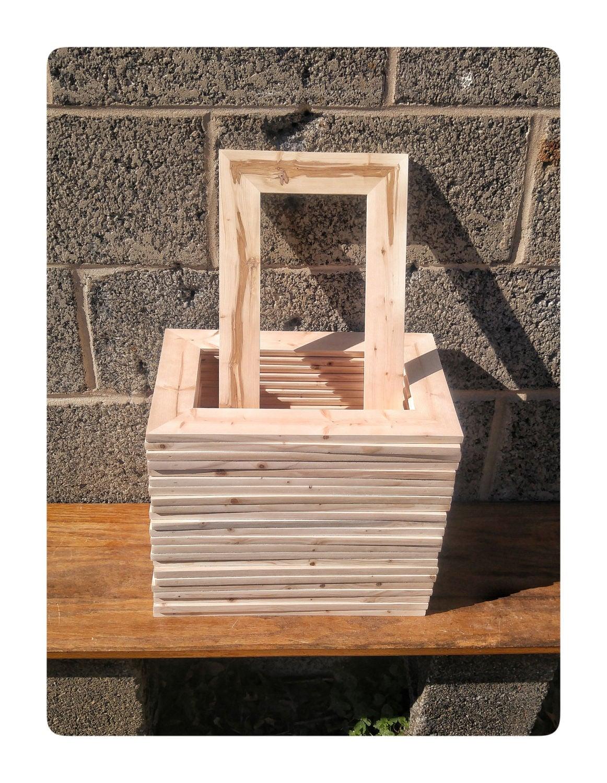 25 Wood Frames, No Hardware or Glass, Bulk Wood Frames, 5.5x11\