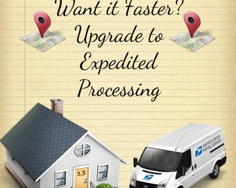 Rush My Order - Rush Processing - Add This Feature for 1-3 Day Processing