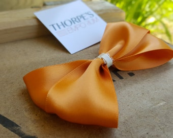 Orange | Satin Ribbon | Hair Bow | Brooch Pin Accessory