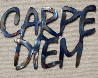 "Carpe Diem Metal Art - 14"" - FREE SHIPPING!!"