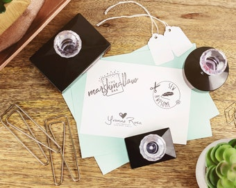 Small business stamp- Custom logo stamp - Self inking teacher stamp - Personalised business stamp - Self inking custom stamp