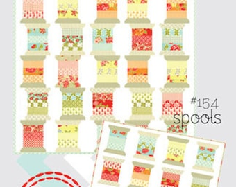 Thimble Blossoms  Spools Quilt Pattern 154   Jelly Roll and Scrap Fabric Friendly Quilt Pattern