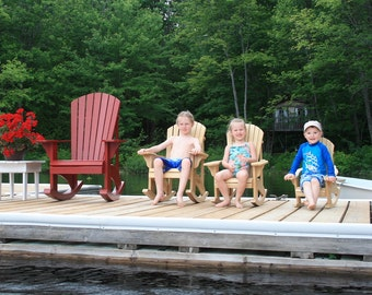 Junior Size Adirondack Rocking Chair Plans - DWG files for CNC machines