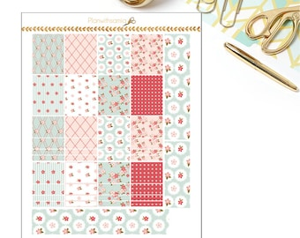 Shabby Pretty - Printable Planner Stickers, Vertical Planner