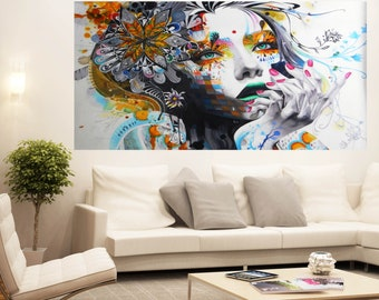 300cm x 160cm Huge Banksy Style signed Urban Princess  street Art Painting Urban Custom Graffiti Stencil by Pepe