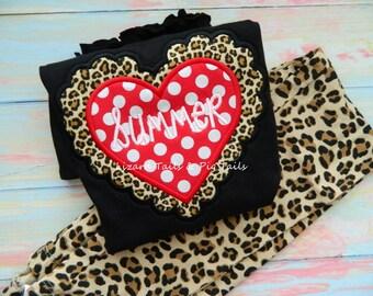Leopard or Cheetah Print Heart - Valentine Heart Cheetah Print- Valentine Shirt Animal Print