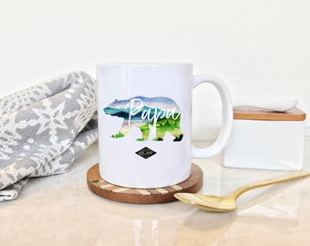 Dad Mug, Father's Day Mug, Papa Bear Mug, Dad Gifts, Mug for New Dad, Adventure Mug, Father's Day Gift, Papa Coffee Mug, Gift for Papa