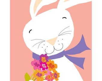 hippity hop bunny greeting card collection