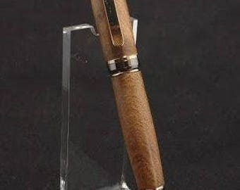 Cigar Pen in Mesquite with 24kt Gold and Gun Metal Finish