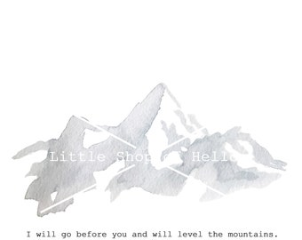 Watercolor Mountains 5x7 Print