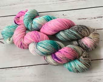 Hand Dyed Superwash Merino/ Nylon Sock Yarn