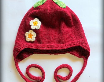 "Handmade knitted cap ""Cherry"""