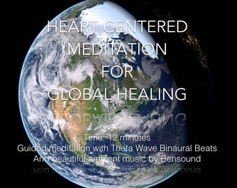 Guided Meditation for Planetary Healing and Love, instant download mp3