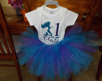 Personalized Birthday Onesie and tutu skirt! NEW!! Made to order!!