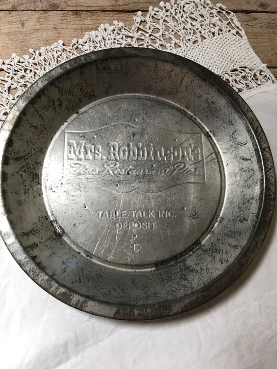 Like this item? & Vintage Pie Plate Mrs. Robinson Fine Restaurant Pies Table