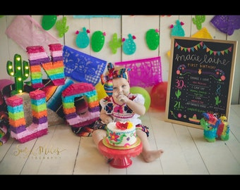 15.00 each Piñata Letters - to spell any name Fiesta decoration - Photo Prop - Table Decoration not a hit piñata