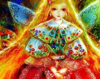 Fairy Queen Fairies Forest Nature Tree Gnome Elves Tolkien Harry Potter Spirit Fantasy Canvas Shannara Celtic Celt Scandinavian Viking Leaf