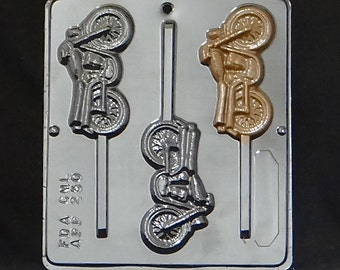Motorcycle Lollipop Chocolate Candy Mold 250
