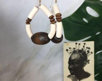 Akeju tribal earrings  African Wedding Ethnic Jewelry Tribal Jewelry Bohemian African Jewelry Ethnic Earrings Afrocentric Earrings African