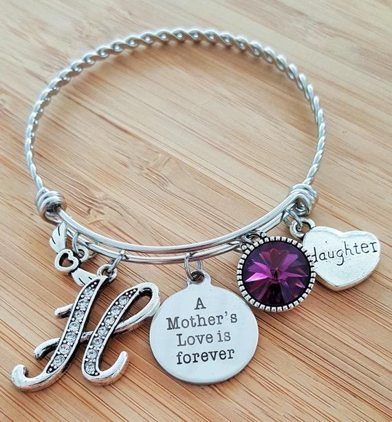 Sympathy Bracelet Sympathy Gift In Memory of Daughter Memorial Bracelet Loss of Daughter Remembrance Bracelet Jewelry Mothers Love Forever