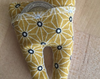 Pocket tooth for the little mustard fabric mouse graphic