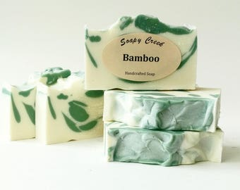 Bamboo Soap, All Natural Soap, Handmade Soap, Homemade Soap, Handcrafted Soap, Artisan Soap, Soaps, Bar Soap, White Soap, Luxury Soap, Soap
