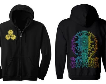 Psychedelic SEER Hoodie Men's and Women's Magic Hooded Sweatshirt Sacred Geometry Jacket