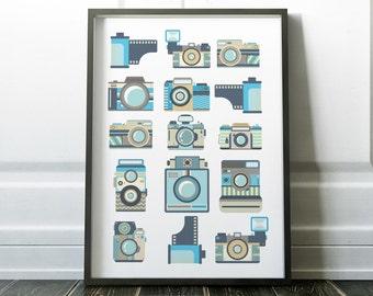 Wall Art Print, Retro Print, Retro Poster, Camera Print, Retro Art, Wall Art, Retro Camera, Prints, Retro Wall Art, Retro Prints, Art