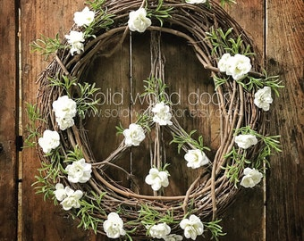 """18"""" Spring Easter Peace Sign Wreath, Christmas Wreath, Holiday All Year Grapevine Wreath, Peace Grapevine Wreath, Summer Wreath, Christmas P"""