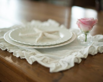 Ruffled Linen Placemats