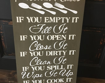 Kitchen Rules, sign