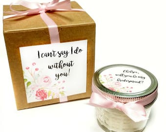 Bridesmaid Favor | Bridesmaid Candle | Bridesmaid Gift | Wedding Favors | Wedding Favor Candle | Maid Of Honor Gift | Rustic Wedding Favors